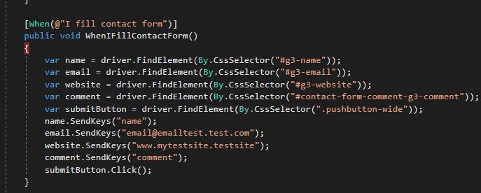 obiekty IWebElement