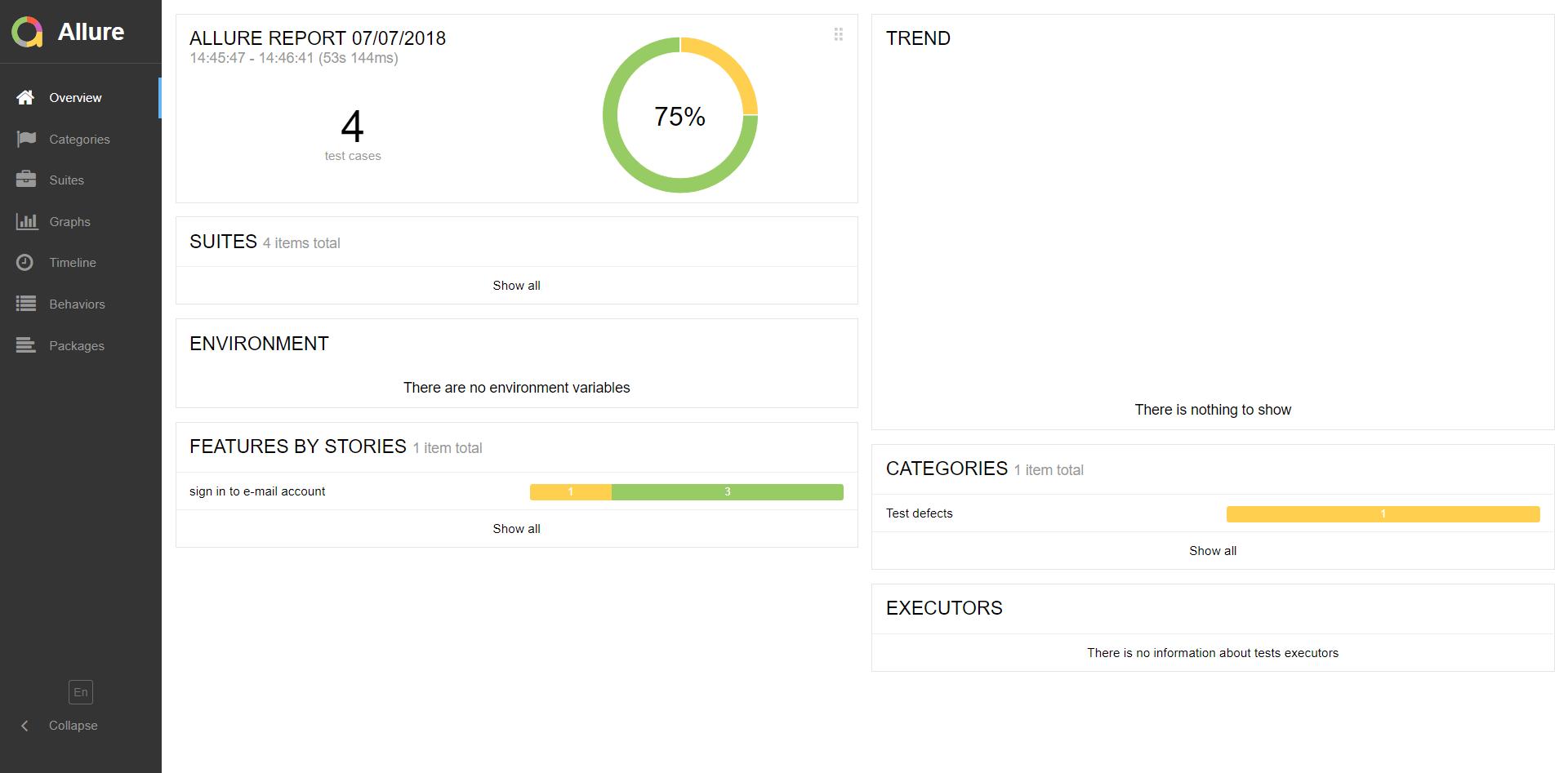 podsumowanie wyników testów